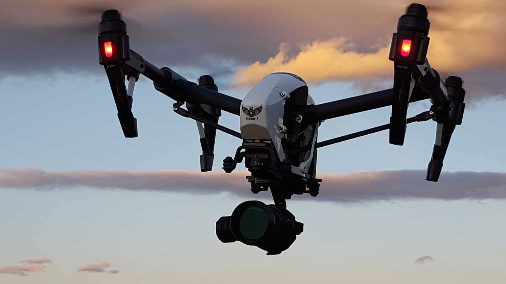 Aerial Camera Services Sunset Drone in the sky